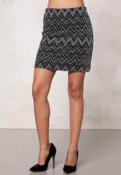 Sisters Point Evi-1 skirt Black/Silver Bubbleroom.se
