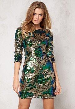 Sisters Point Garty Dress Green/Blue/Gold Bubbleroom.se