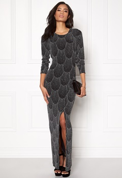 Sisters Point Gelly Dress 001 Black/silv Bubbleroom.se
