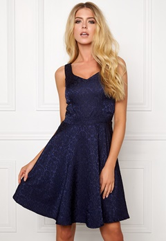 Sisters Point Glimo Dress Navy Bubbleroom.se