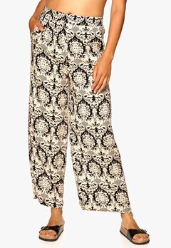 Sisters Point Grimy Pants Black/Beige Bubbleroom.se