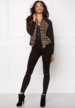 Sisters Point Ibo Bomber Jacket 845 Leopard Bubbleroom.se
