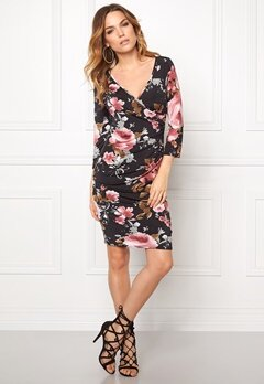 Sisters Point Line Dress Black/D.Rose/Grey Bubbleroom.se