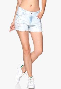 Sisters Point Mila shorts Light Blue Denim Bubbleroom.se