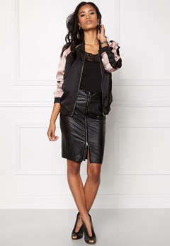 Sisters Point Walk Bomber Jacket 001 Black/Old Rose Bubbleroom.se