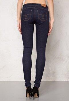 OBJECT Skinny Sally Rinse Jeans Dark Blue Denim Bubbleroom.se