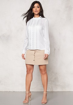 SOAKED IN LUXURY Boho Shirt Lily White Bubbleroom.se