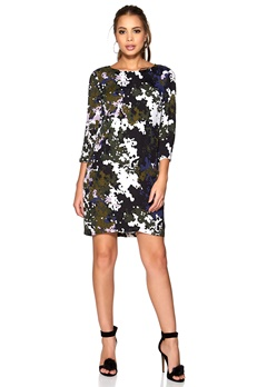 SOAKED IN LUXURY Camou Dress Olive/blue/Print Bubbleroom.se