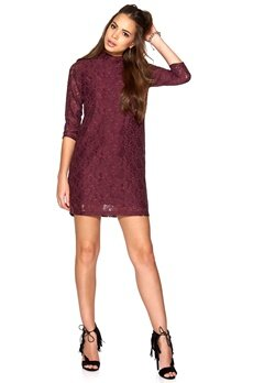 SOAKED IN LUXURY Carlin Dress Plum Bubbleroom.se
