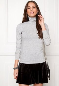 SOAKED IN LUXURY Elisse Turtleneck Light Grey Melange Bubbleroom.se