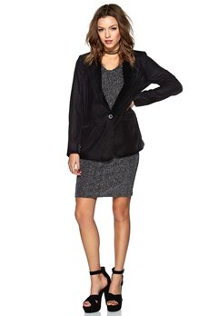 SOAKED IN LUXURY Eliza Blazer Charcoal Bubbleroom.se