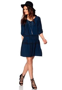 SOAKED IN LUXURY Evy dress Blue/Black Bubbleroom.se