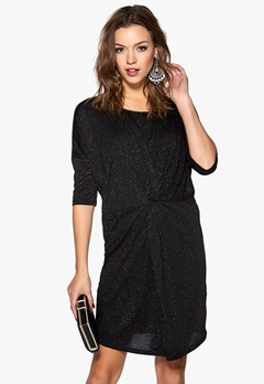 SOAKED IN LUXURY Hope Dress Black w. silver Bubbleroom.se