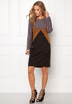 SOAKED IN LUXURY Janie Dress Grey/Black Bubbleroom.se