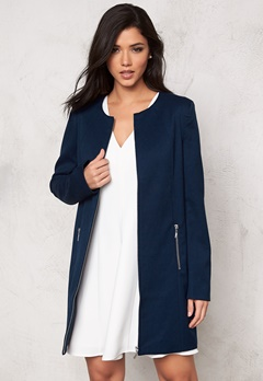 SOAKED IN LUXURY Katie Coat Navy Bubbleroom.se