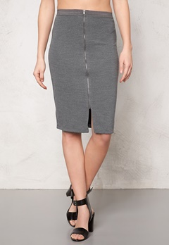SOAKED IN LUXURY Laureen Skirt Medium Grey Melange Bubbleroom.se