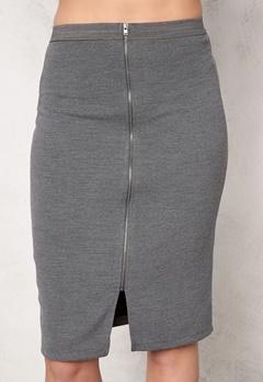 SOAKED IN LUXURY Laureen Skirt Medium Grey Melange Bubbleroom.no