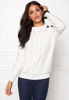 SOAKED IN LUXURY Marant Jumper Broken White Bubbleroom.se