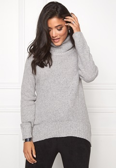 SOAKED IN LUXURY Pearl Pullover Light Grey Melange Bubbleroom.fi
