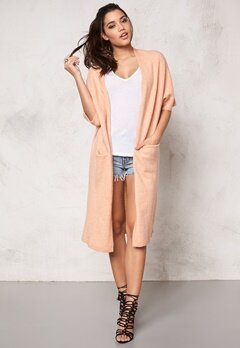 SOAKED IN LUXURY Salvia Cardigan Peach Bubbleroom.se