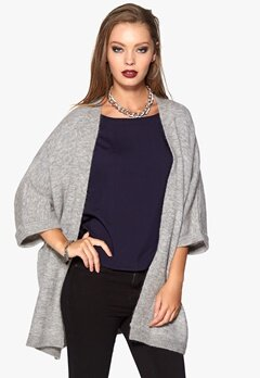 SOAKED IN LUXURY Santana Knit Kimono Light Grey Mel. Bubbleroom.se
