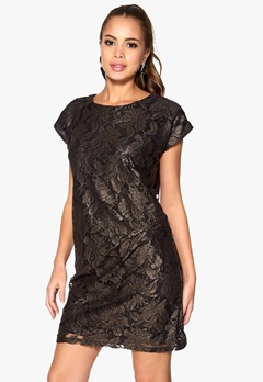 SOAKED IN LUXURY Selina Dress Black/Gold Bubbleroom.se
