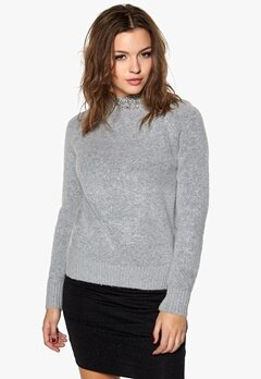 SOAKED IN LUXURY Sophy Jumper Light Grey Melange Bubbleroom.se