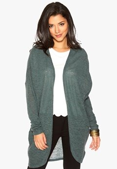 SOAKED IN LUXURY Tabitha Cardigan Dusty Green Bubbleroom.se