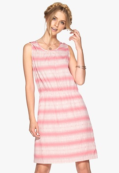 SOAKED IN LUXURY Zona dress Rosa/Offwhite Bubbleroom.se
