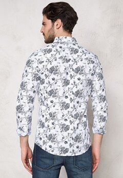 Solid Barker Shirt 0001 White Bubbleroom.se