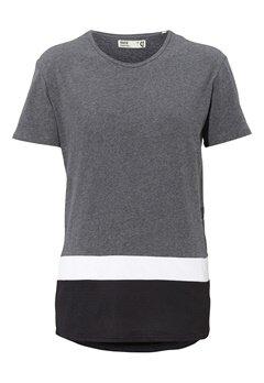 Solid Donaver T-shirt 8236 Grey Mel Bubbleroom.se