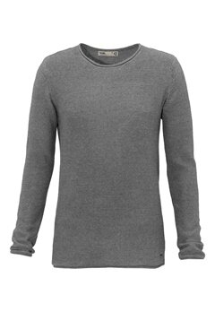 Solid Jarah Knit 8236 Grey Mel Bubbleroom.se