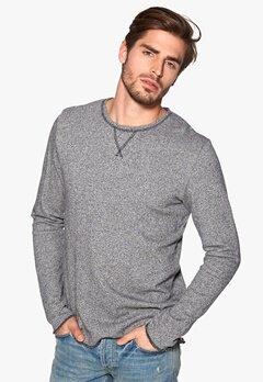 Solid Selvario Sweatshirt 8236 Grey Melange Bubbleroom.se