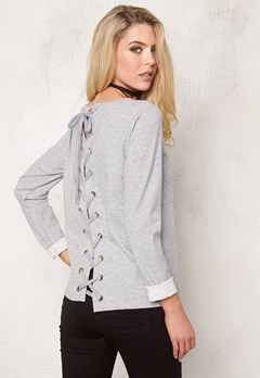 VILA State New Sweat Light Grey Melange Bubbleroom.fi