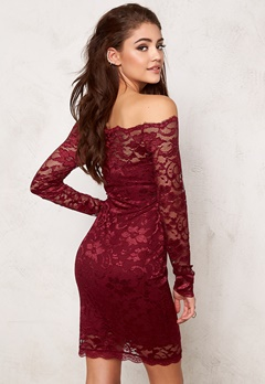 Model Behaviour Stina Dress Wine-red Bubbleroom.dk
