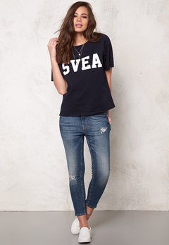 Svea Ester Sweat Navy Bubbleroom.se