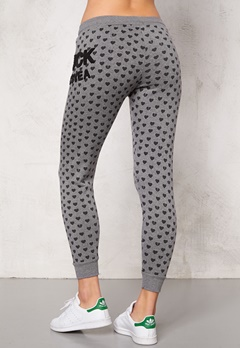 Svea Sweat Pants 671 Grey Heart Print Bubbleroom.fi