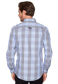 Tailored & Original Fullham Check Shirt 1991 Insignia Blue Bubbleroom.se