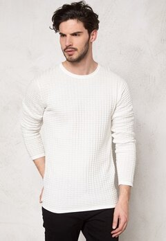Tailored & Original Newgate Knit 0104 Off White Bubbleroom.se