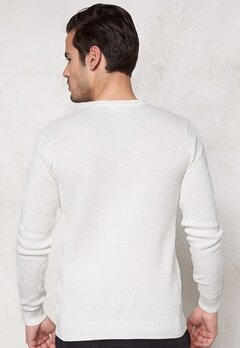 Tailored & Original Reading Knit 0104 Off White Bubbleroom.se