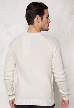 Tailored & Original Redmile Knit 0104 Off White Bubbleroom.se