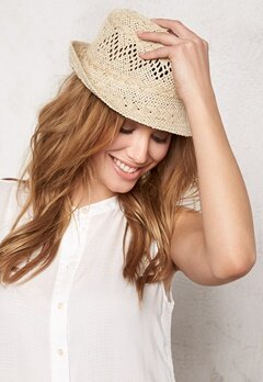 Pieces Tasmin small straw hat Nature Bubbleroom.se