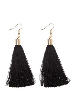 77thFLEA Tassels earrings Gold/Black Bubbleroom.se