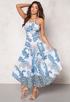 Chiara Forthi Tati Dress White/Blue Bubbleroom.se