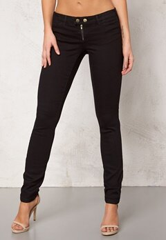 VERO MODA Thunder Low Skinny Button Black Bubbleroom.se