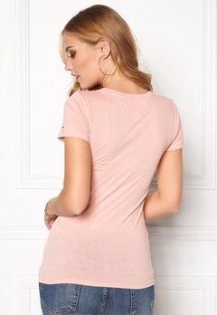TOMMY HILFIGER DENIM Basic cn s/s T-Shirt 655 Silver Pink Bubbleroom.se