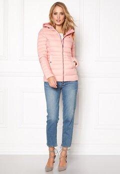 TOMMY HILFIGER DENIM Basic Puffa Jacket 655 Silver Pink Bubbleroom.se