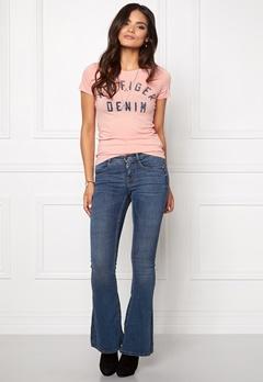 TOMMY HILFIGER DENIM Basic S/S T-shirt 901 Egret/Navy Bubbleroom.se