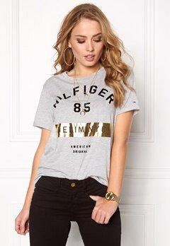 TOMMY HILFIGER DENIM Cn s/s T-shirt 038 Lt Grey Htr Bubbleroom.se