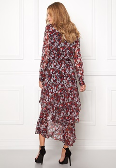TOMMY HILFIGER DENIM Printed Maxi Dress 902 Rhubarb/Multi Bubbleroom.se